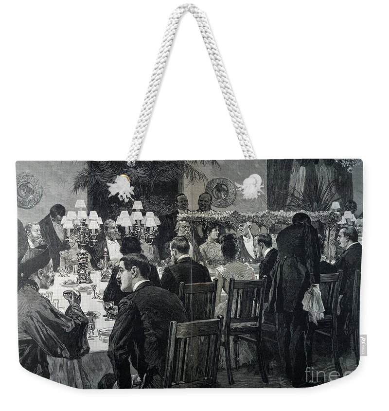 1888 Weekender Tote Bag featuring the photograph White House: State Dinner by Granger