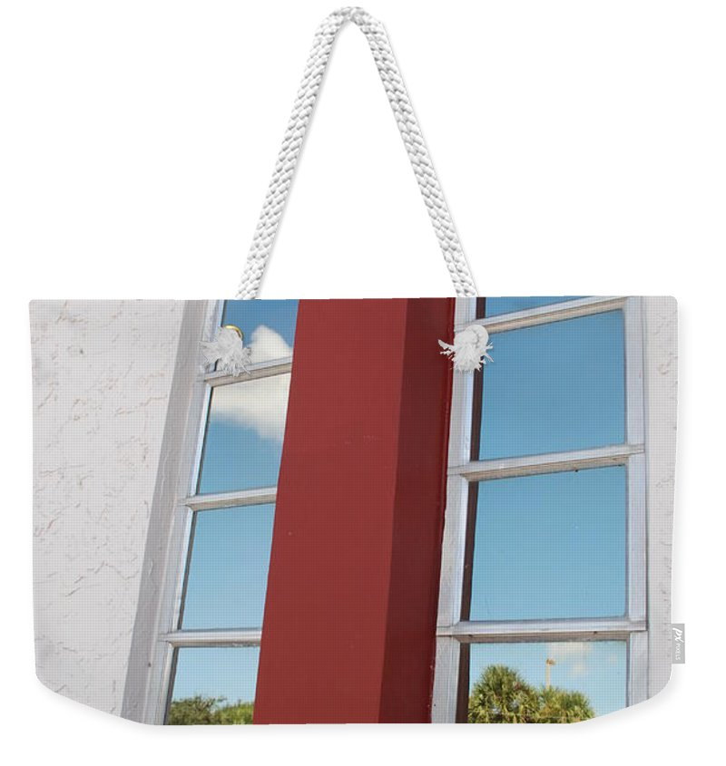 Sky Weekender Tote Bag featuring the photograph Window T Glass by Rob Hans