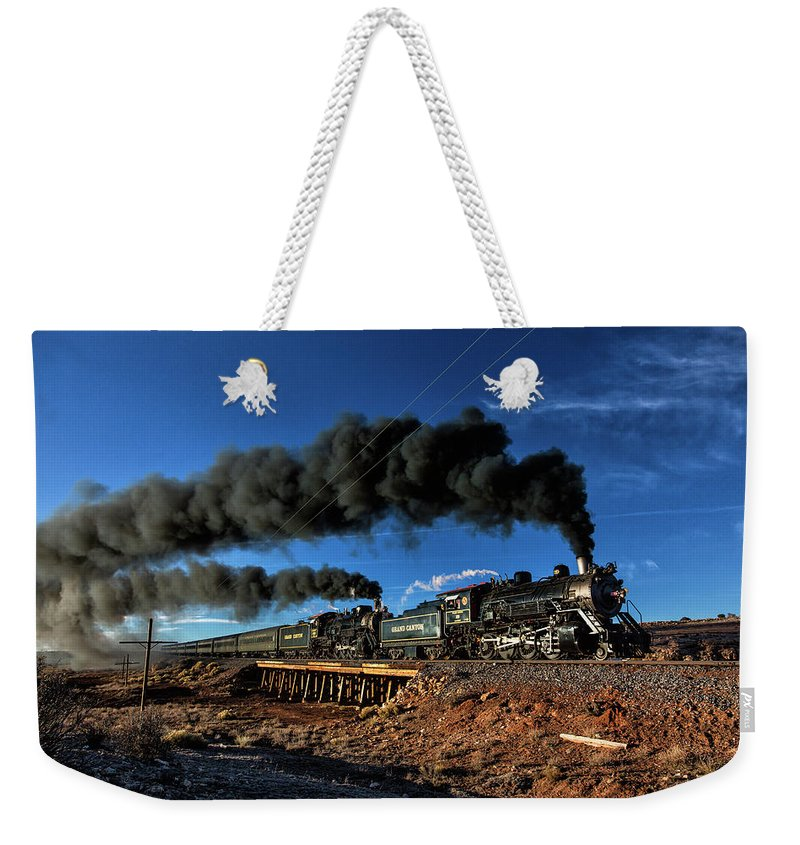Steam Weekender Tote Bag featuring the photograph Working Hard by Peter Crook