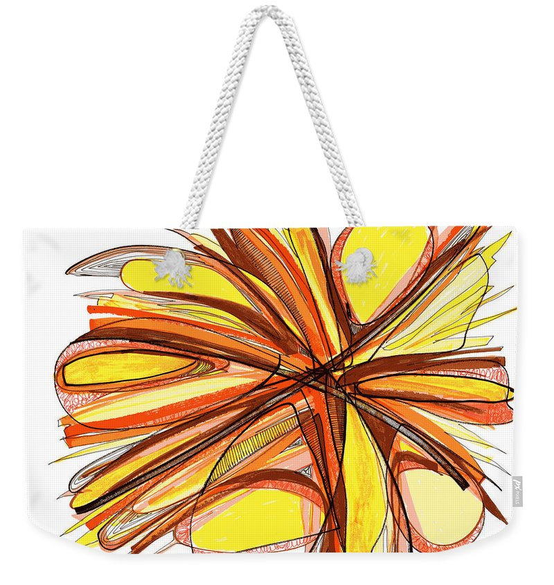 Abstract Art Weekender Tote Bag featuring the drawing 2010 Abstract Drawing Thirteen by Lynne Taetzsch