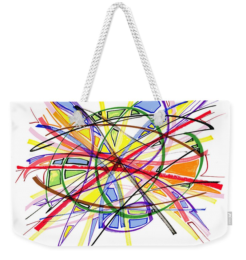 Abstract Art Weekender Tote Bag featuring the drawing 2010 Abstract Drawing Twelve by Lynne Taetzsch