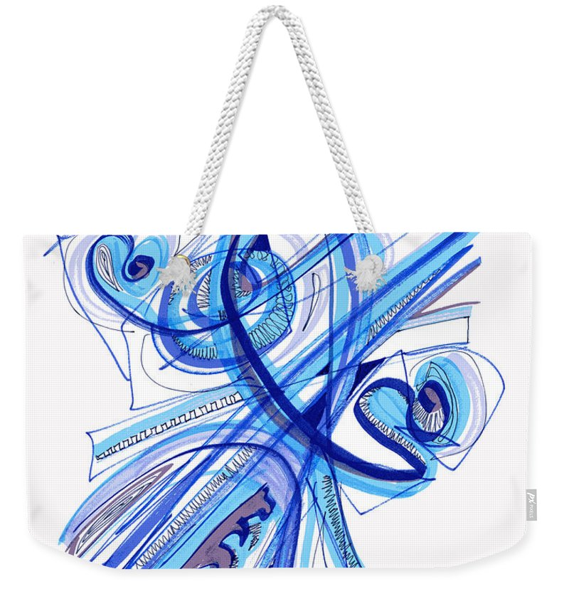 Abstract Weekender Tote Bag featuring the drawing 2010 Drawing Four by Lynne Taetzsch