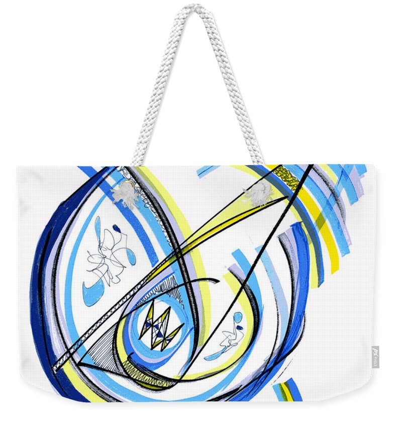 Abstract Weekender Tote Bag featuring the drawing 2010 Drawing One by Lynne Taetzsch