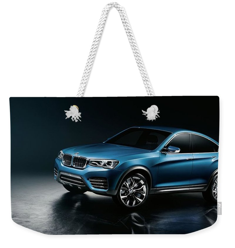 Bmw X Concept 1 Weekender Tote Bag featuring the digital art 2013 Bmw X4 Concept 1 by Mery Moon