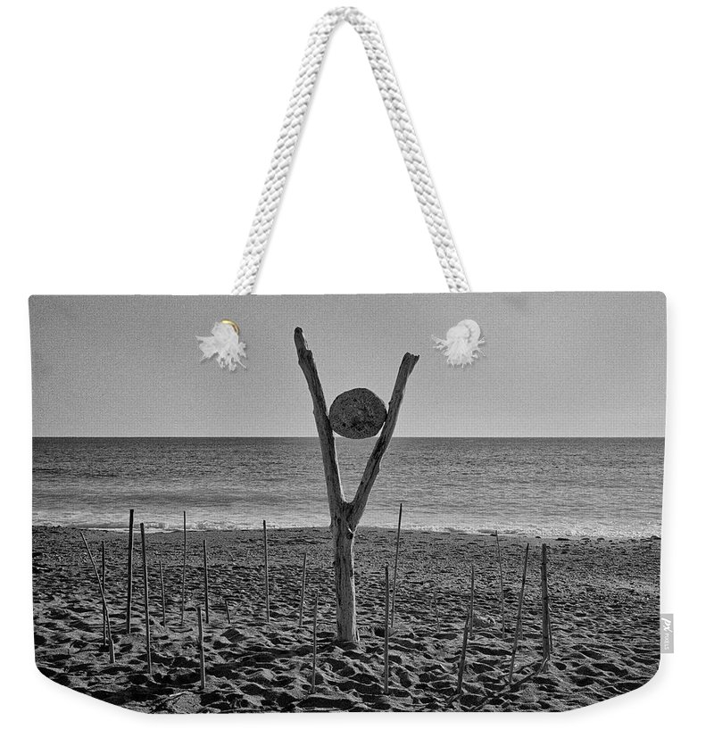 Seascape Weekender Tote Bag featuring the photograph 2013 Totem by Roberto Ferrero