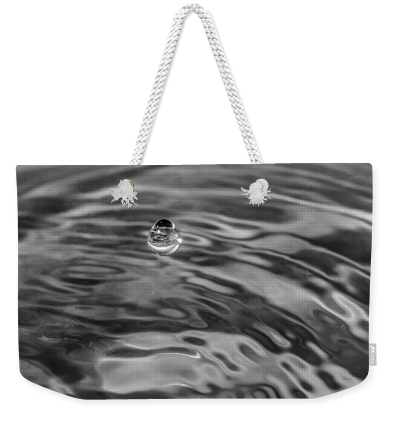 Macro Weekender Tote Bag featuring the photograph 2015 A Space Odyssey - Bw by Steve Harrington