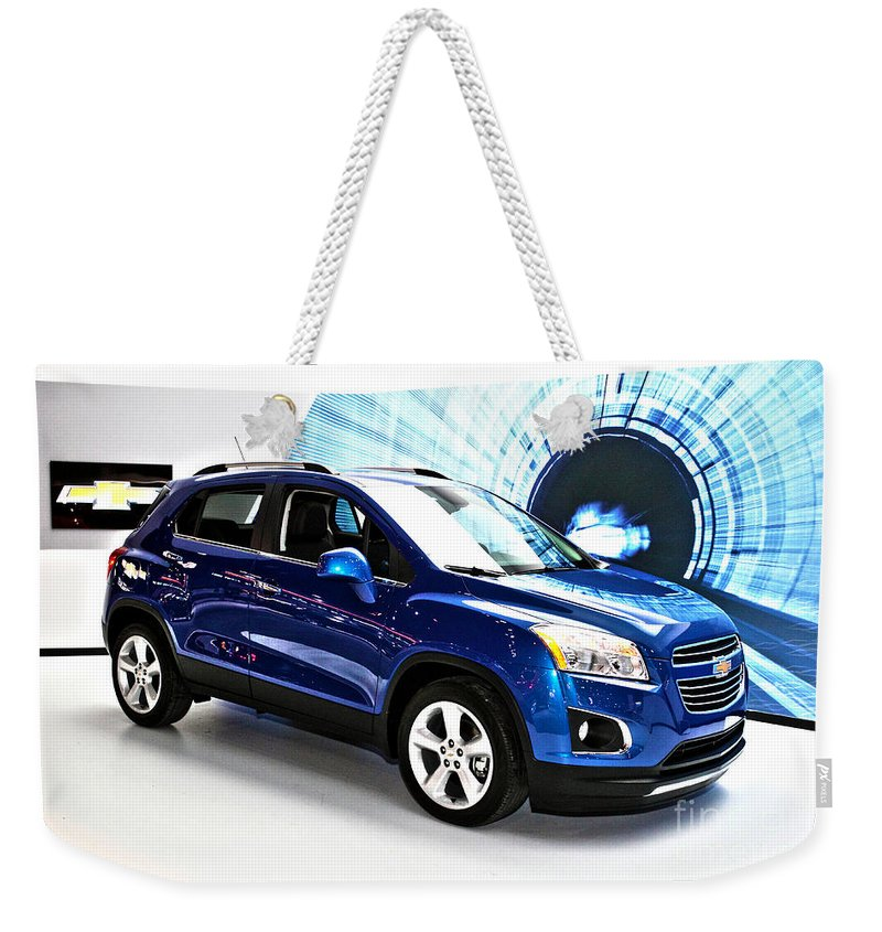 Auto Weekender Tote Bag featuring the photograph 2015 Chevrolet Trax Number 1 by Alan Look