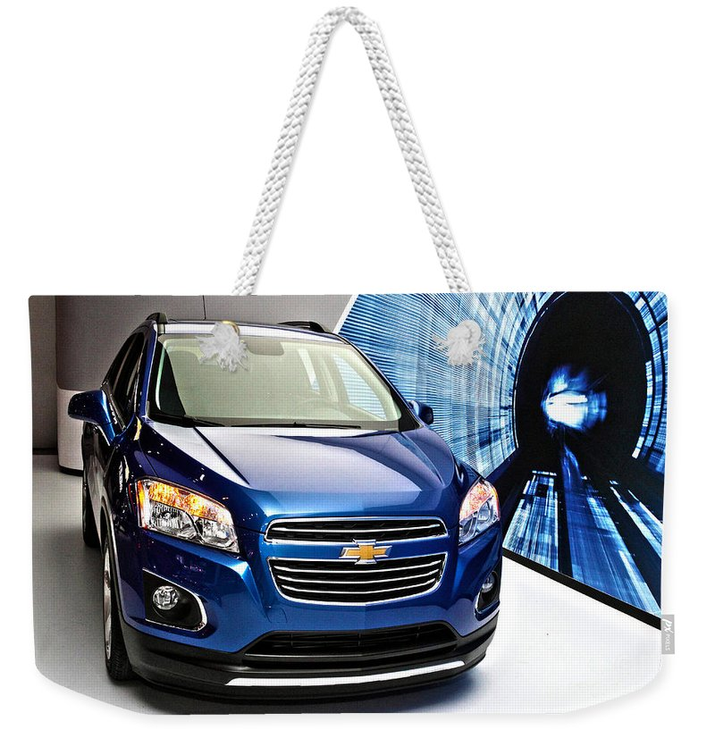 Auto Weekender Tote Bag featuring the photograph 2015 Chevrolet Trax2 by Alan Look