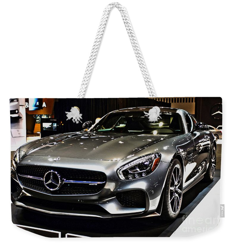 Auto Weekender Tote Bag featuring the photograph 2016 Mercedes-amg Gts by Alan Look