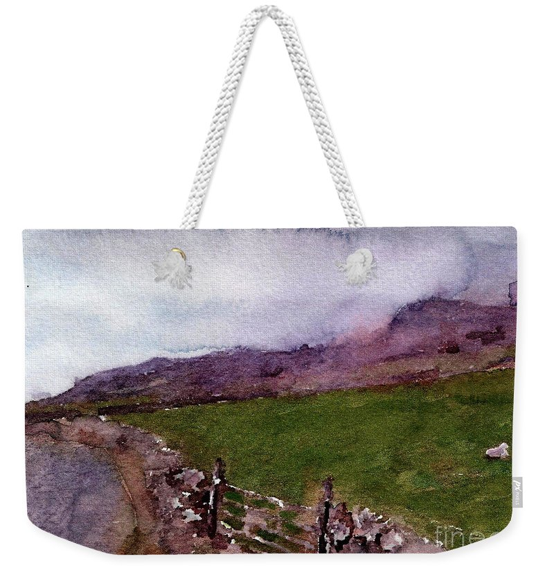 England Weekender Tote Bag featuring the painting #20170211b by John Warren OAKES