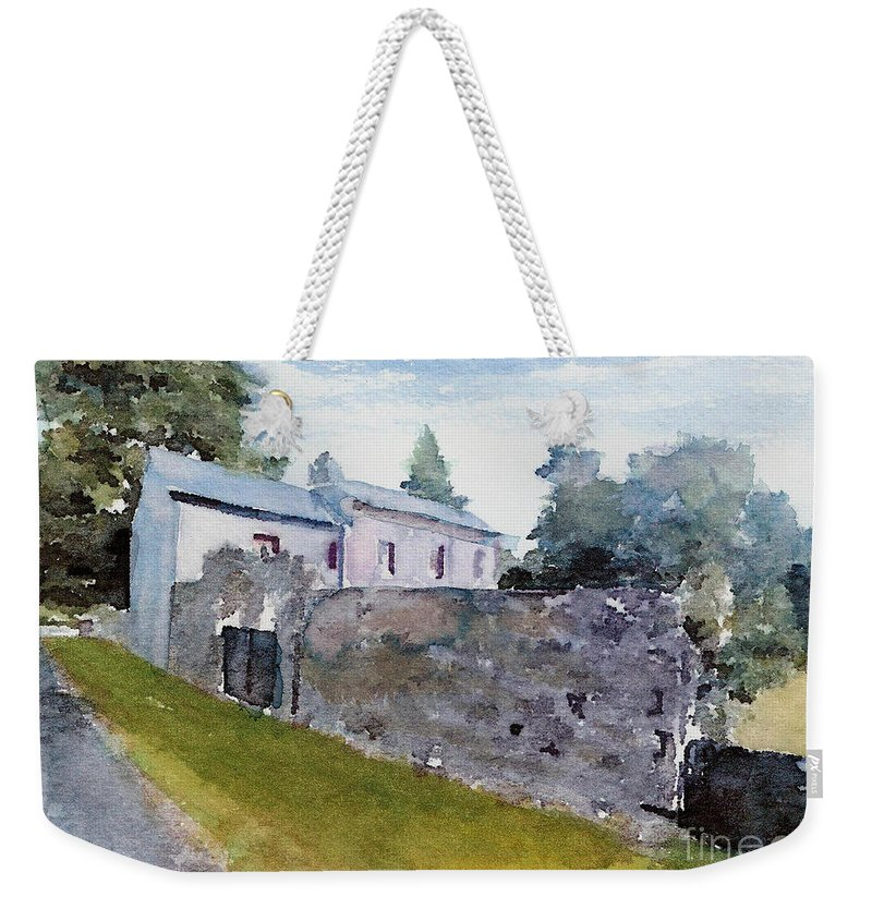 England Weekender Tote Bag featuring the painting #20170211c by John Warren OAKES