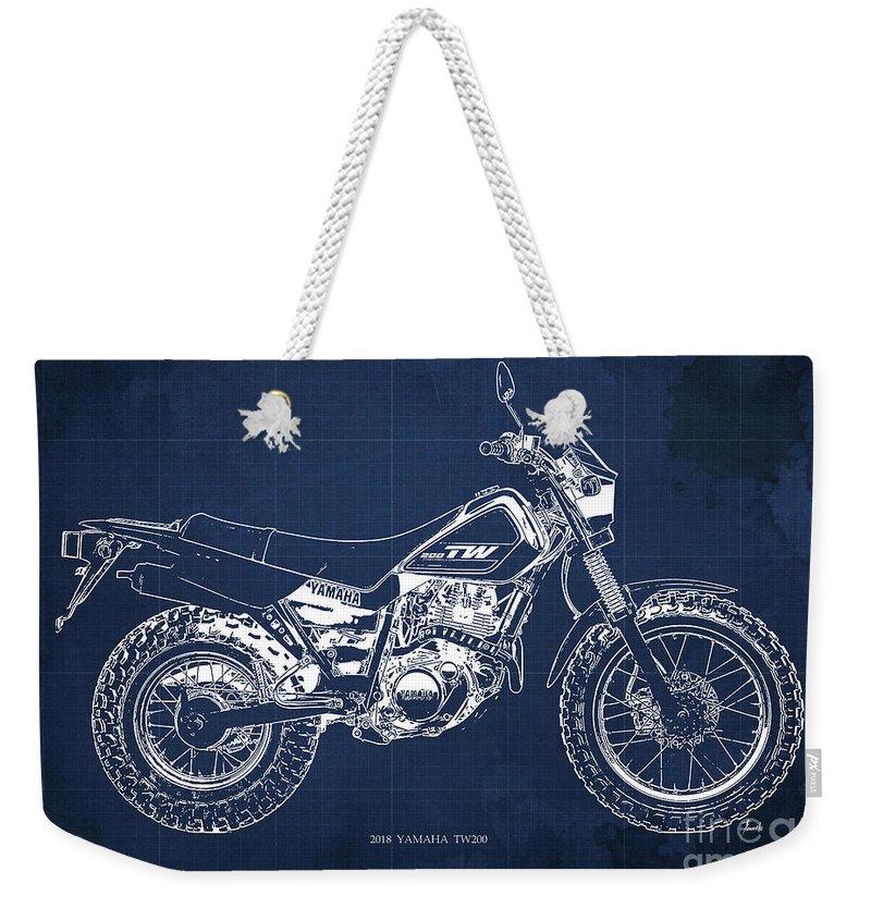 Moto Blueprint Weekender Tote Bags