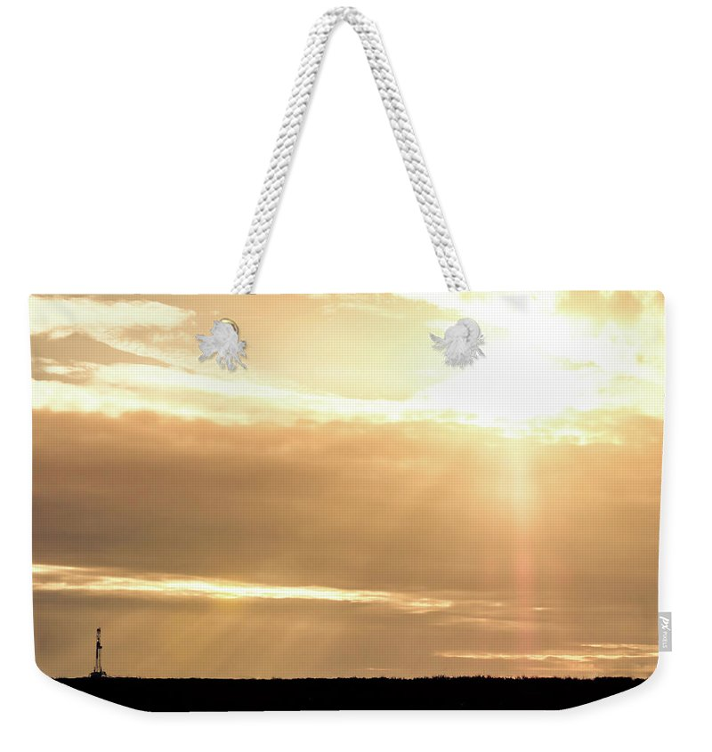Drillers Club Weekender Tote Bag featuring the photograph 2018_02_pecos Tx_cactus 153 1 by Brian Farmer