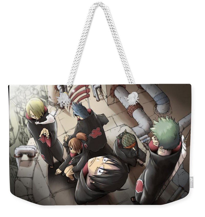 One Piece Weekender Tote Bag featuring the digital art 20183 One Piece by Mery Moon