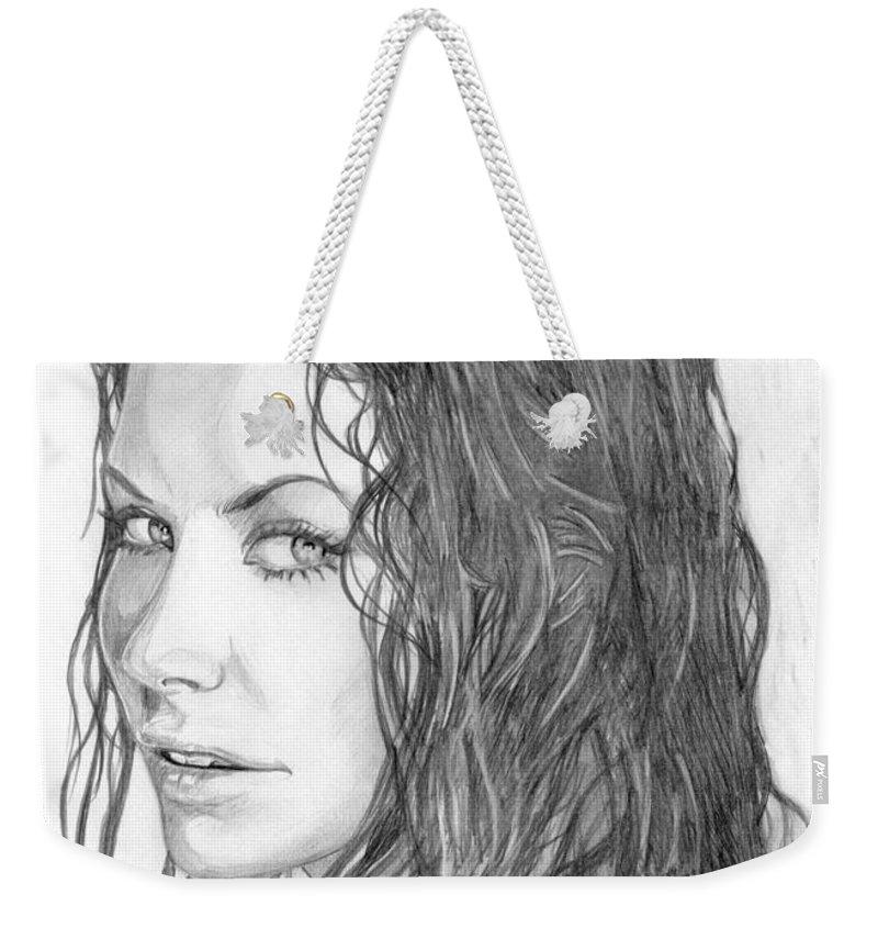 Evangeline Weekender Tote Bag featuring the drawing 22 by Kristopher VonKaufman