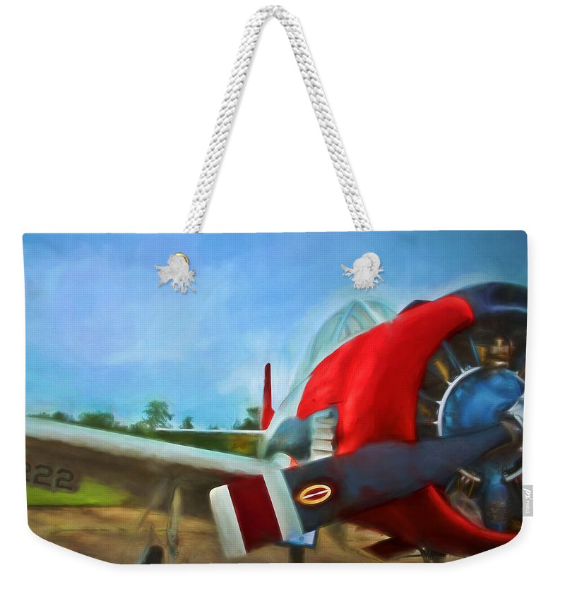 Plane Weekender Tote Bag featuring the digital art 222 by Ronald Bolokofsky