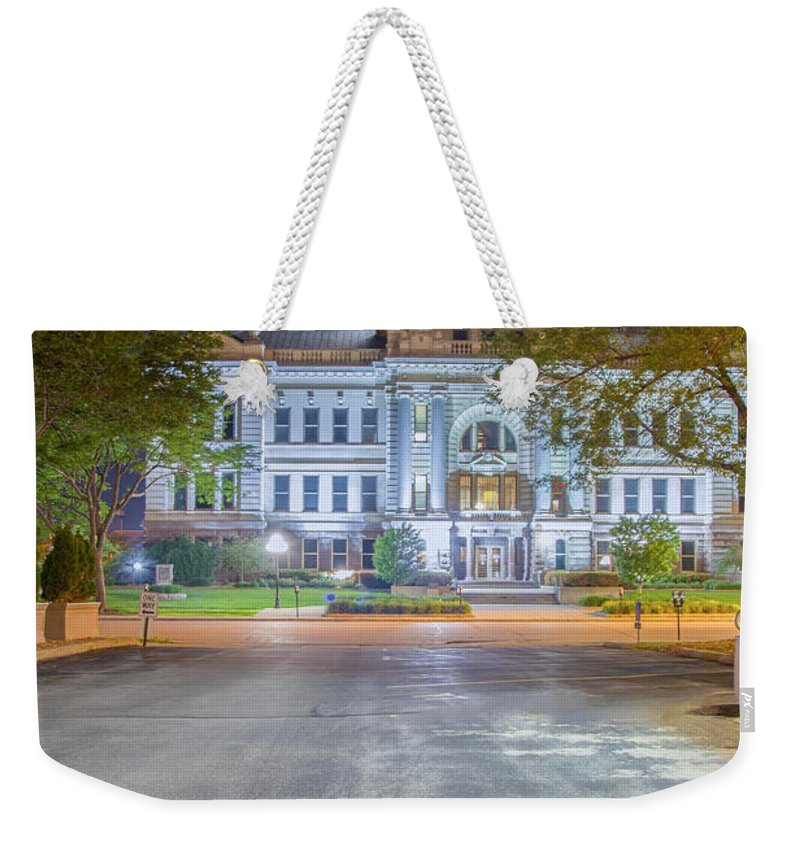 Green Bay Weekender Tote Bag featuring the photograph 2300 At The Green Bay Courthouse by Nikki Vig