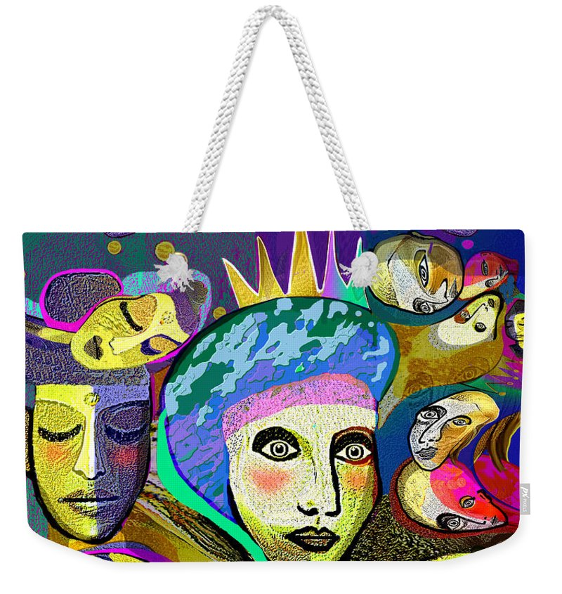 2355 Another Queen 2017. Queen Of Carnival 2017 Weekender Tote Bag featuring the digital art 2355 Another Queen 2017 by Irmgard Schoendorf Welch
