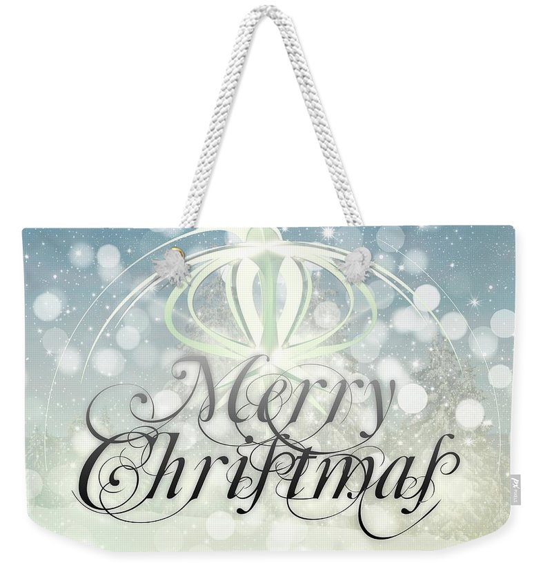 Decoration Weekender Tote Bag featuring the digital art Christmas by FL Collection