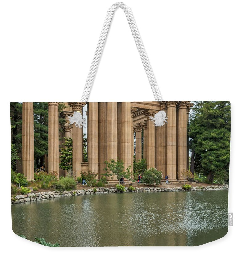 Palace Of Fine Arts Weekender Tote Bag featuring the photograph 2515- Palace Of Fine Arts by David Lange