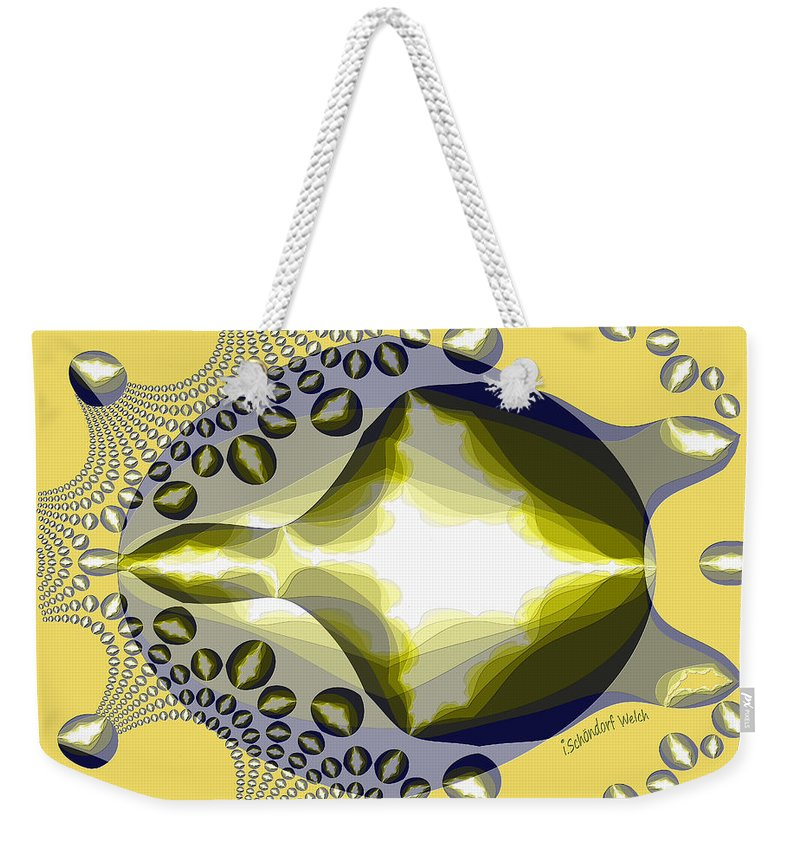 2559 Turtle Semi Abstract 2017 Weekender Tote Bag featuring the digital art 2559 Turtle Semi Abstract 2017 by Irmgard Schoendorf Welch