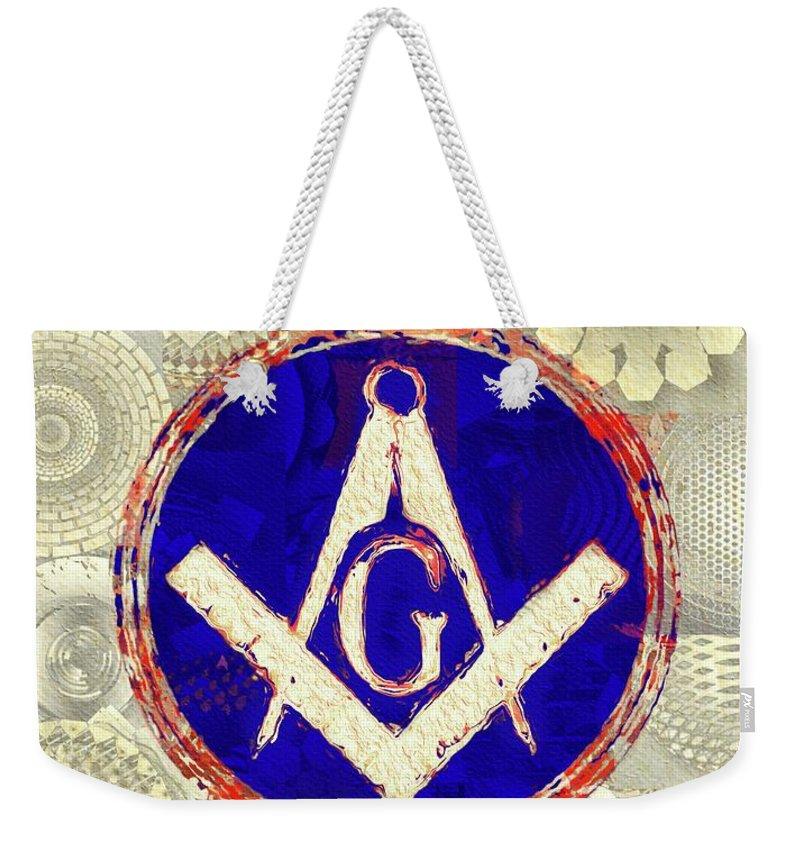 Freemason Weekender Tote Bag featuring the painting Freemason, Masonic, Symbols 26 by Pierre Blanchard