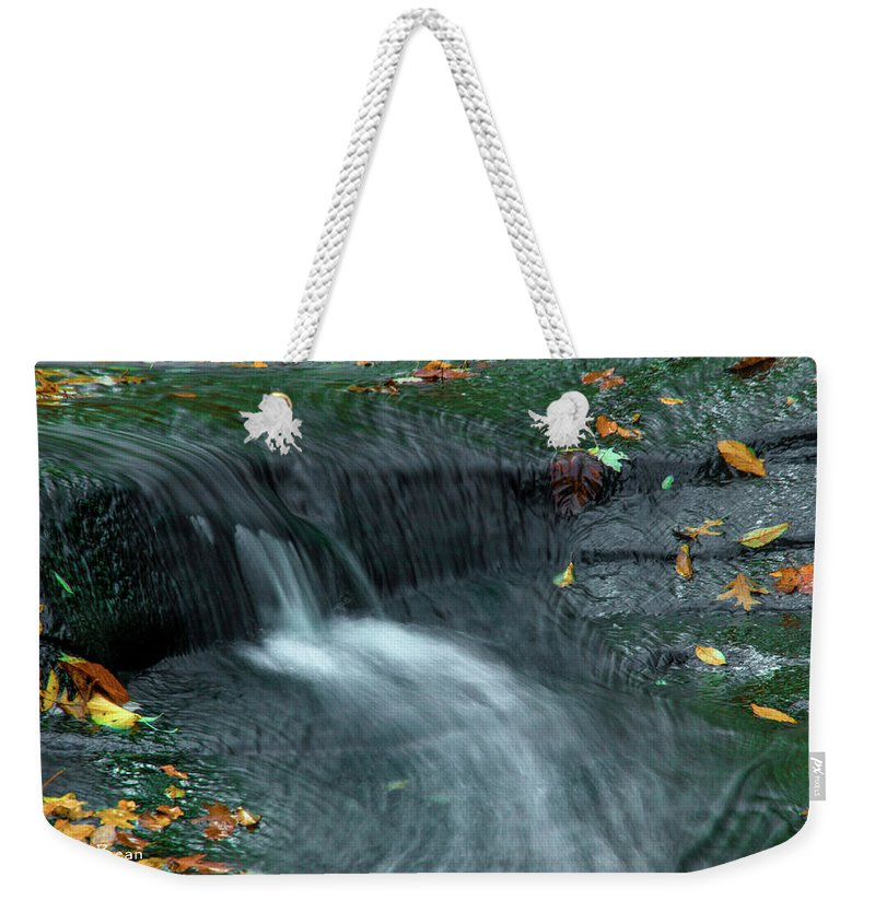 Water Falls Weekender Tote Bag featuring the photograph 260 Olmsted Falls by Dennis R Bean