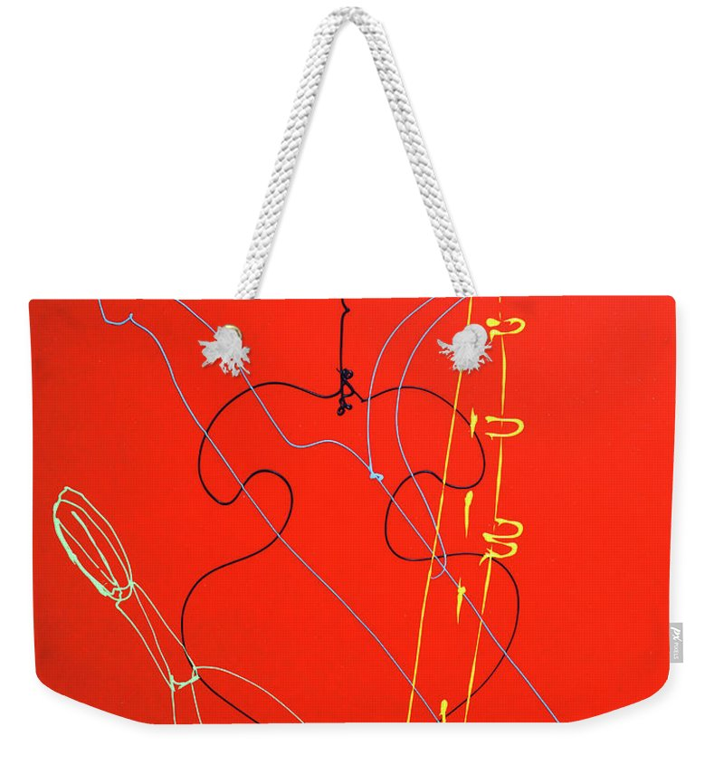Weekender Tote Bag featuring the painting 27 by Ferboligali
