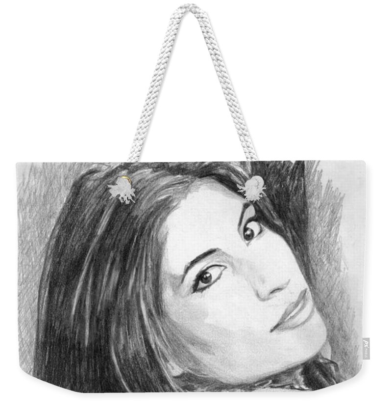 Woman Weekender Tote Bag featuring the drawing 28 by Kristopher VonKaufman