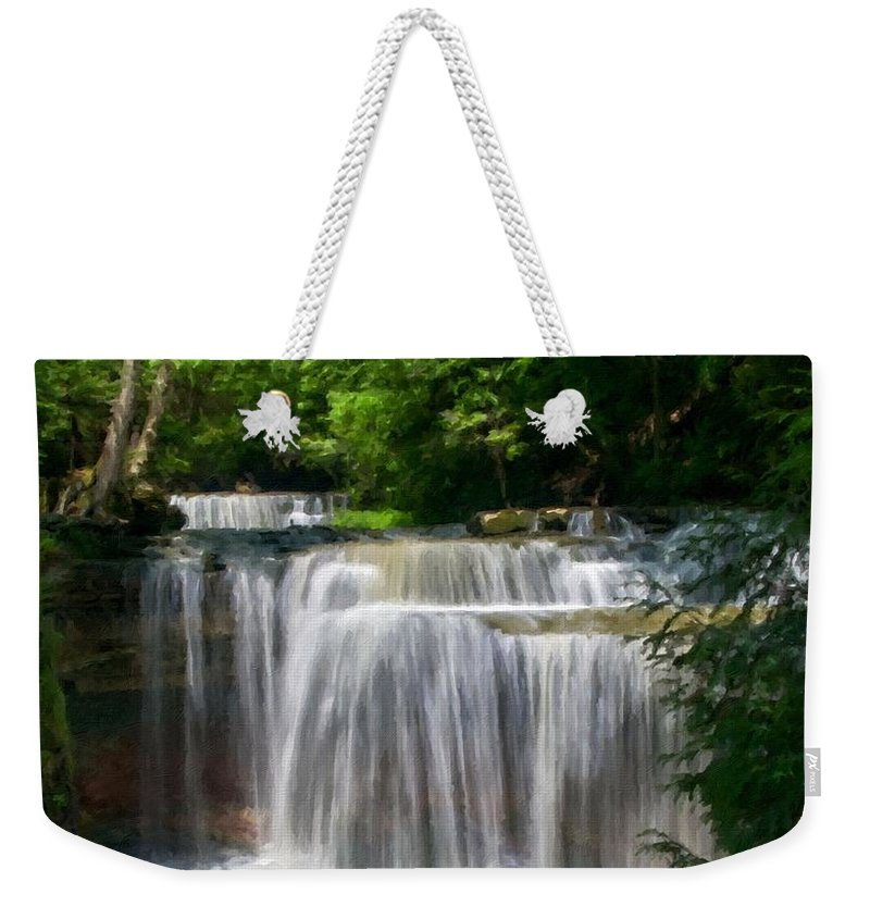 Landscape Weekender Tote Bag featuring the digital art T C Landscape by Usa Map
