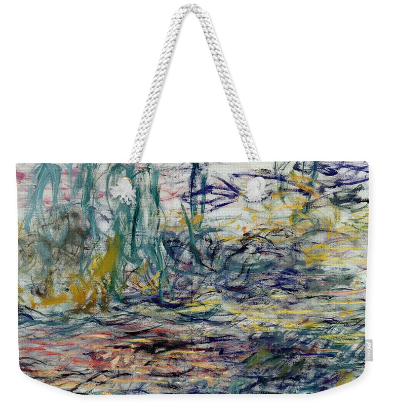 Abstract Weekender Tote Bag featuring the painting Waterlilies by Claude Monet
