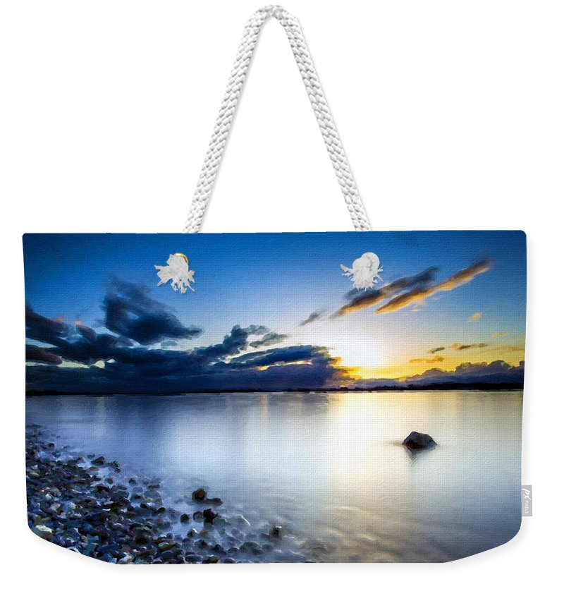 C Weekender Tote Bag featuring the digital art T C Landscape by Usa Map