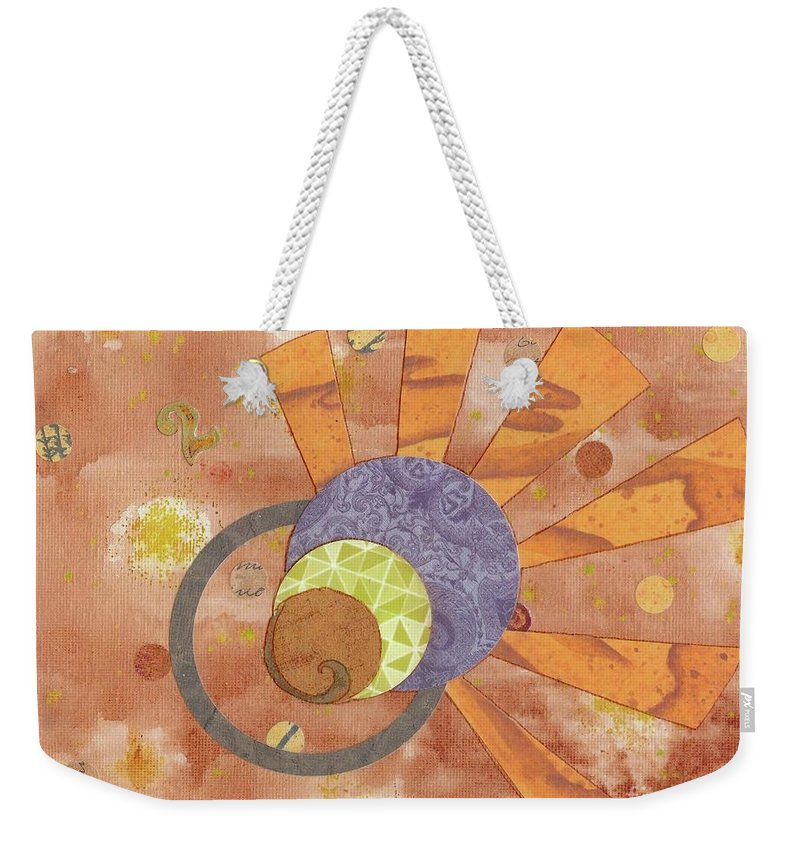 Orange Weekender Tote Bag featuring the mixed media 2life by Desiree Paquette