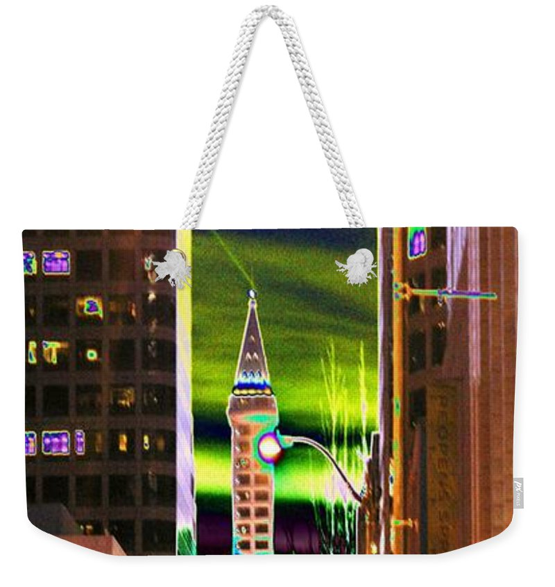 Seattle Weekender Tote Bag featuring the photograph 2nd Avenue Sunrise by Tim Allen