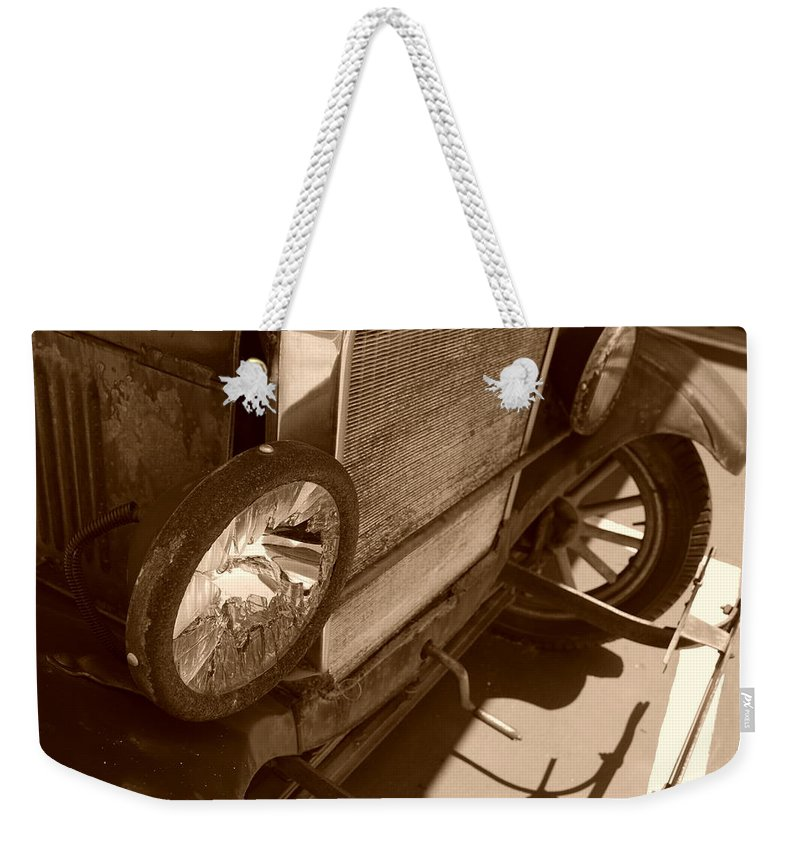 Sepia Weekender Tote Bag featuring the photograph 1926 Model T Ford by Rob Hans