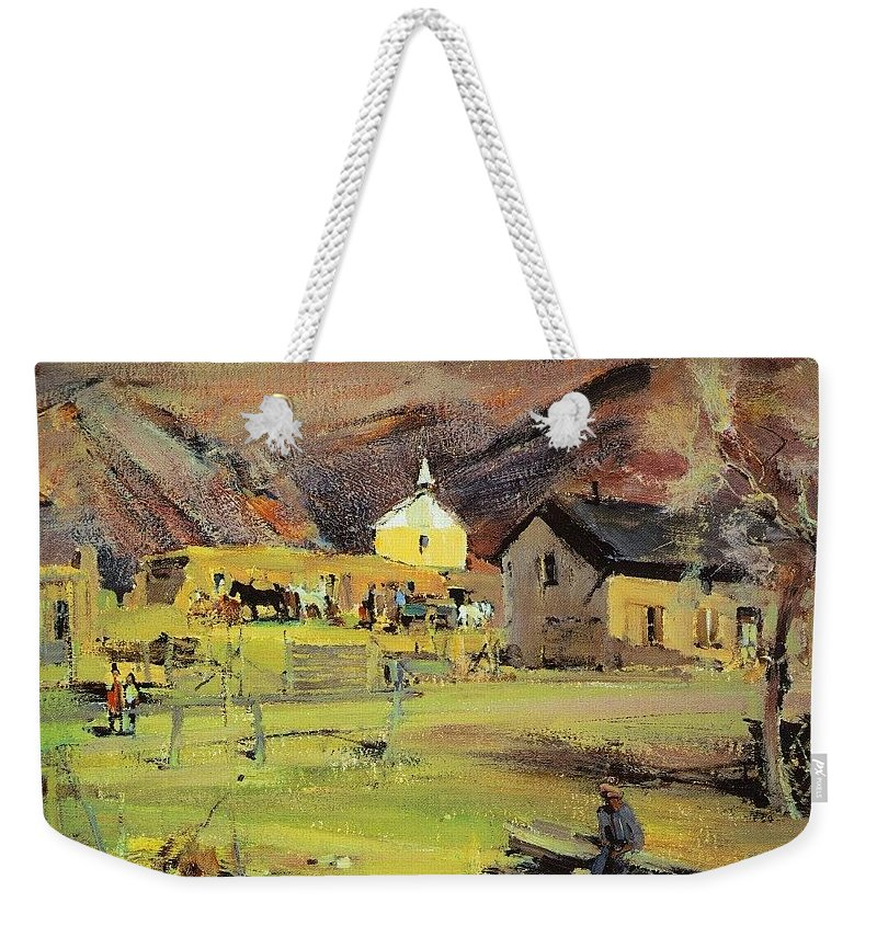 Puzzle Weekender Tote Bag featuring the digital art  19271933 Nikolay Feshin by Eloisa Mannion