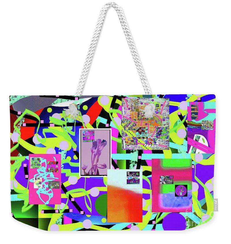 Walter Paul Bebirian Weekender Tote Bag featuring the digital art 3-3-2016abcdefghijklmnopqrtuvwxyzabcdefghij by Walter Paul Bebirian