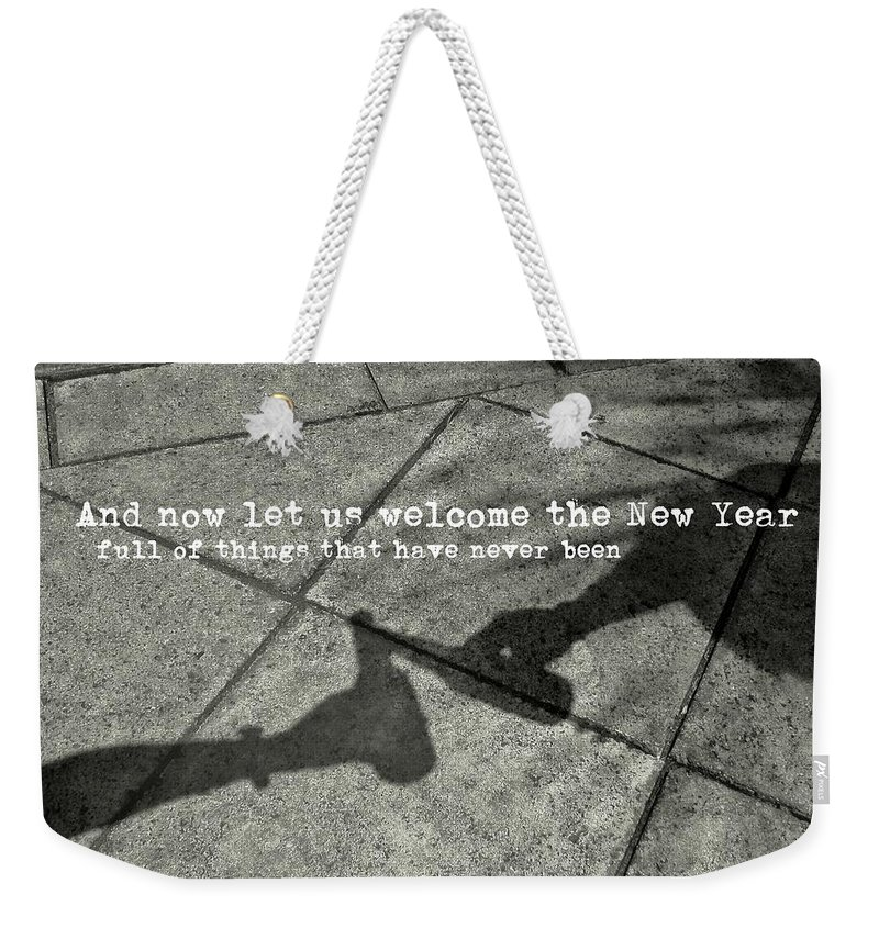 Bottle Weekender Tote Bag featuring the photograph Friendship Toast Quote by JAMART Photography