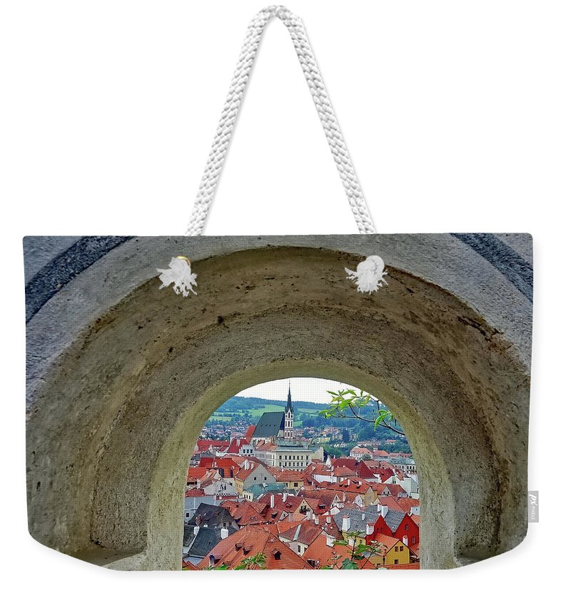 Cesky Krumlov Weekender Tote Bag featuring the photograph A View Of Cesky Krumlov In The Czech Republic by Richard Rosenshein