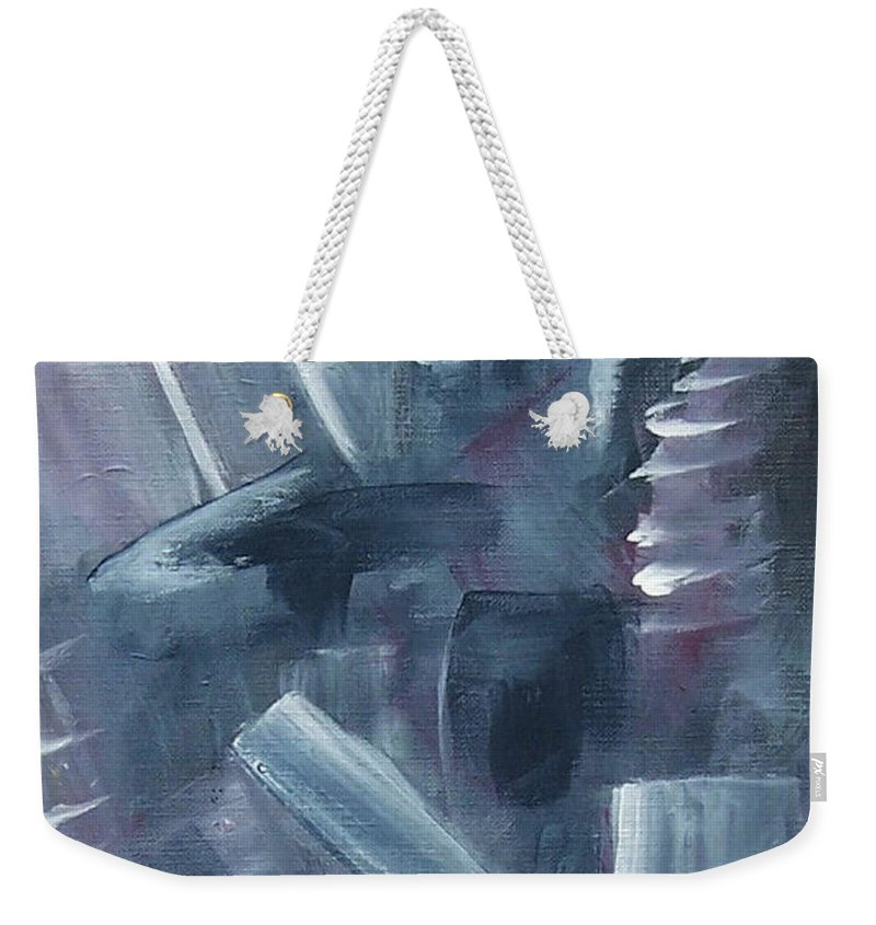 Abstract Weekender Tote Bag featuring the painting After Hours by Karen Day-Vath