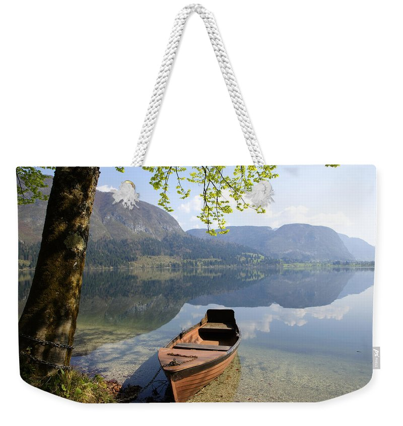 Reflections Weekender Tote Bag featuring the photograph Alpine Moods by Ian Middleton