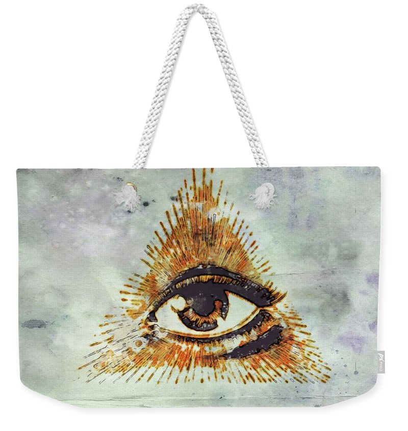 Freemason Weekender Tote Bag featuring the digital art Ancient Freemasonic Symbolism By Pierre Blanchard by Pierre Blanchard
