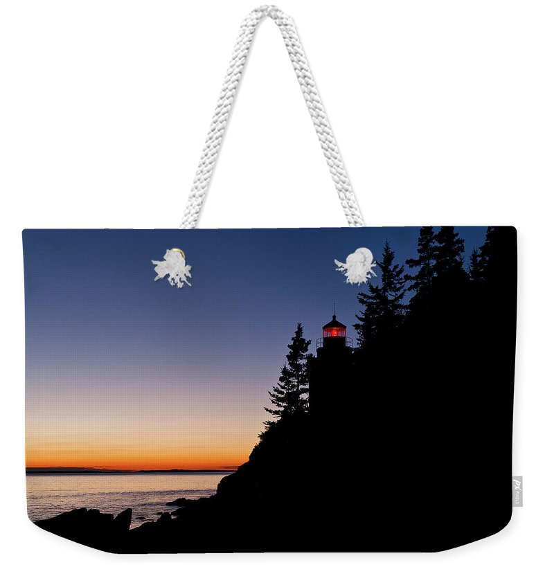 Bass Harbor Weekender Tote Bag featuring the photograph Bass Harbor Lighthouse by John Greim