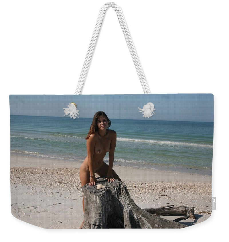Lucky Cole Everglades Photography Weekender Tote Bag featuring the photograph Beach Girl by Lucky Cole