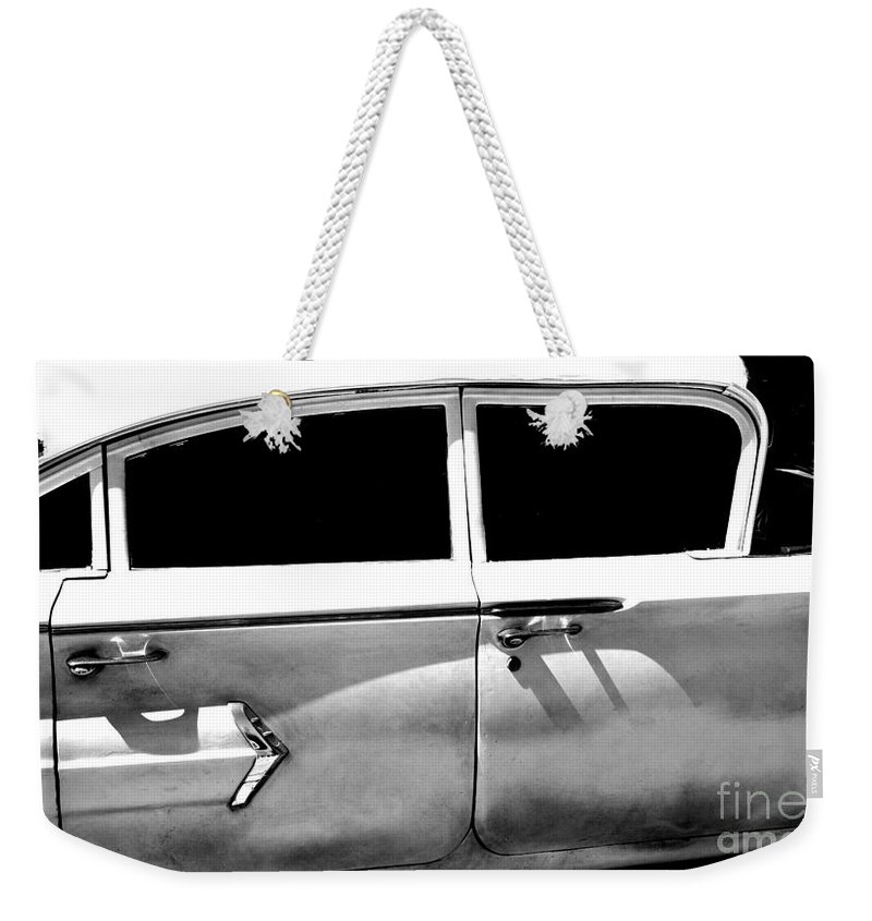 classic Cars Weekender Tote Bag featuring the photograph Biscayne by Amanda Barcon