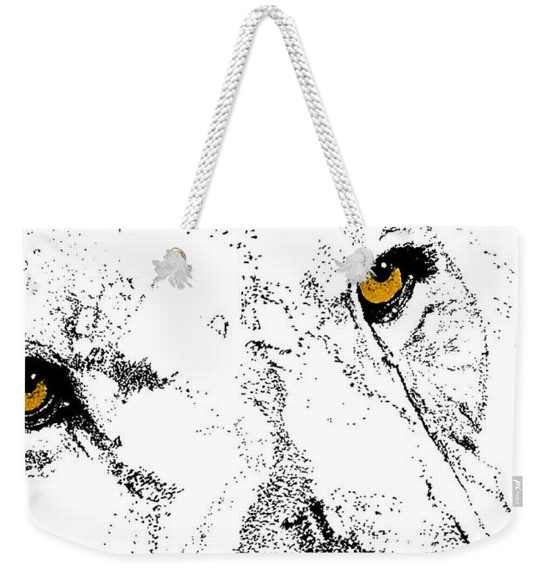 Lion Weekender Tote Bag featuring the photograph Born Free by JAMART Photography
