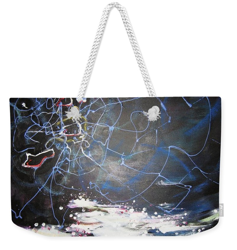 Abstract Paintings Weekender Tote Bag featuring the painting Buckwheat Field by Seon-Jeong Kim