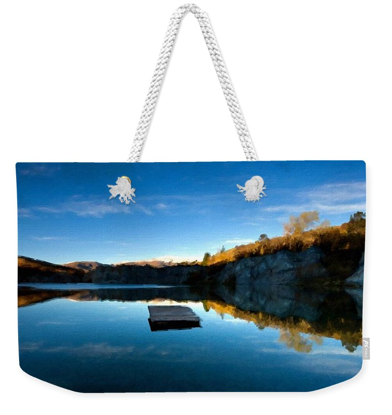Pictures Weekender Tote Bag featuring the digital art C E Landscape by Usa Map