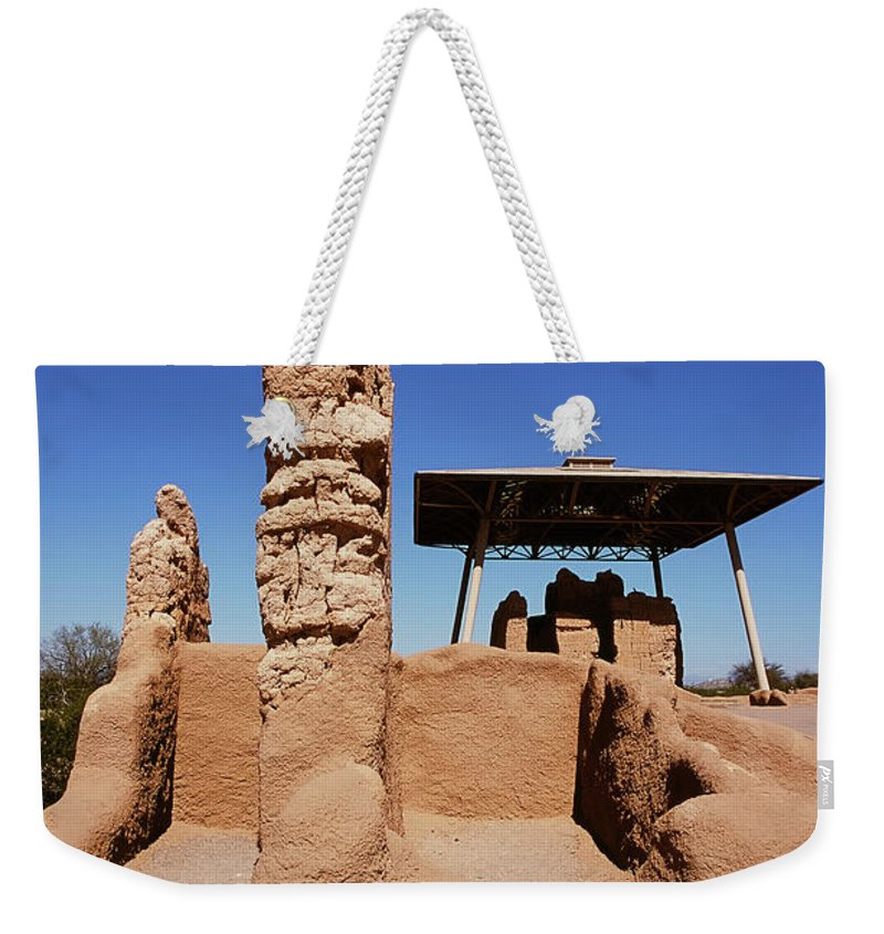 Abandoned Weekender Tote Bag featuring the photograph Casa Grande Ruins by Paul Moore