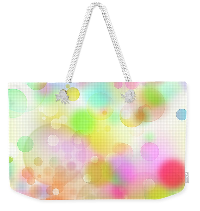 Abstract Background Weekender Tote Bag featuring the digital art Colorful Abstract 3 by Les Cunliffe